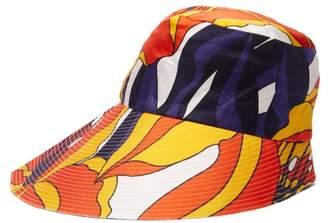 La Prestic Ouiston Lys Floral Print Silk Twill Bucket Hat - Womens - Orange