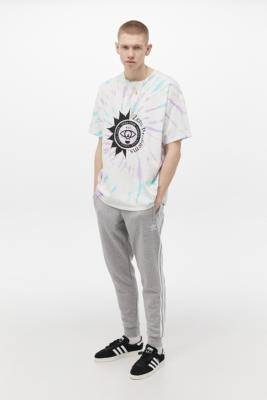 adidas 3-Stripe Grey Joggers - Grey L at Urban Outfitters