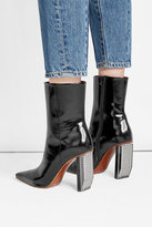 Vetements Patent Leather Ankle Boots