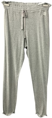 KENDALL + KYLIE Grey Cotton Trousers for Women