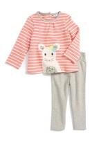 Toddler Girl's Mini Boden Animal Friends Tee & Leggings Set