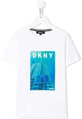 DKNY City logo print T-shirt