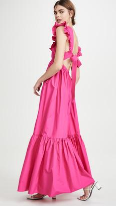 Self-Portrait Poplin Maxi Dress