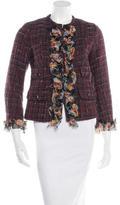 Dolce & Gabbana Tweed Ruffle-Accented Jacket