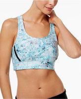 Calvin Klein Shimmer-Print Medium-Support Sports Bra