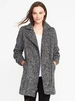 Old Navy Marled Long Moto Jacket for Women