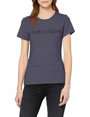 Calvin Klein Jeans Women's INSTITUTIONAL Logo Slim FIT TEE T-Shirt