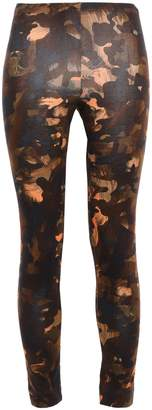 Versace Cropped Printed Stretch Cotton-jersey Leggings