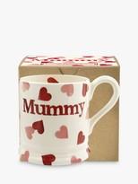 Emma Bridgewater Pink Hearts 'Mummy' Half Pint Mug, Pink/Multi, 280ml
