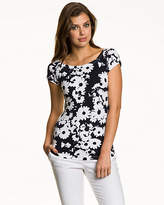 Le Château Floral Stretch Cotton Off-the-Shoulder Top