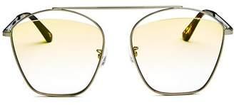 McQ Women's Brow Bar Aviator Sunglasses, 59mm