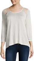 i jeans by Buffalo 3/4 Sleeve Lace Back Top