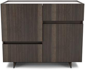 Huppe 48-inch Walnut Buffet with Glass Top