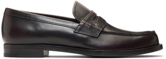 Prada Burgundy Leather Bristol Loafers