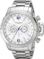 Akribos XXIV Men's AK604WT Conqueror Multi-Function Stainless Steel Swiss Quartz Bracelet Watch