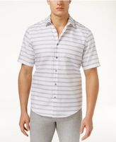 Alfani Men's Jagged Stripe Cotton Shirt, Created for Macy's