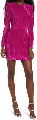Saylor Tenley Long Sleeve Velvet Minidress