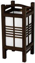 "Oriental Furniture 14"" Akida Lamp, Walnut"
