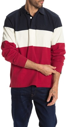 Rag & Bone Color Block Long Sleeve Rugby Pullover Sweater