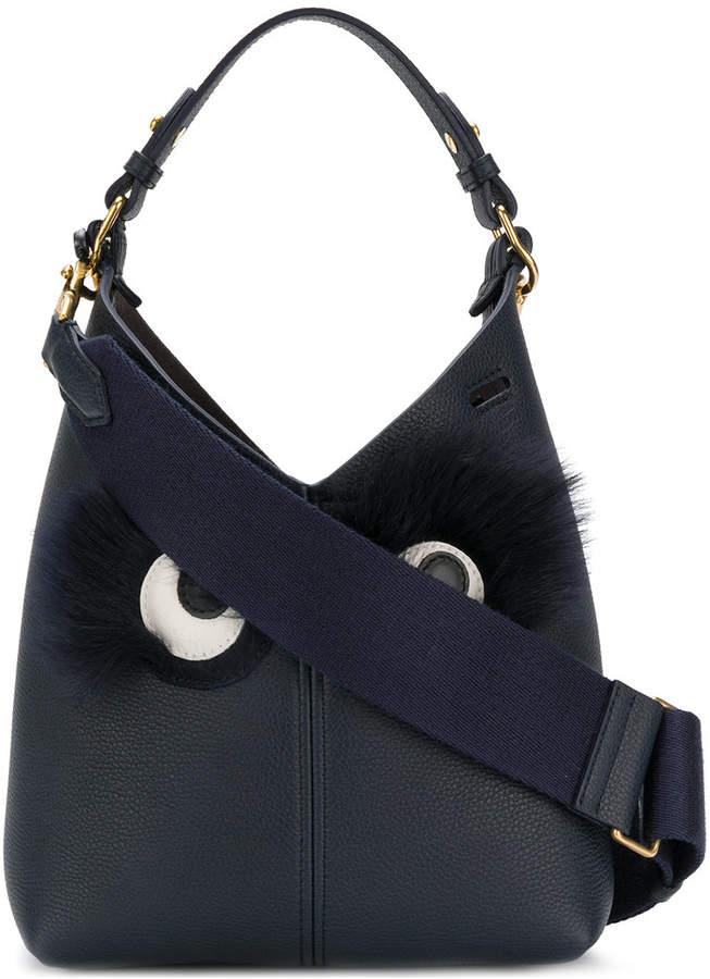 Anya Hindmarch Build A Bag Furry Eyes tote