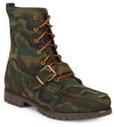 Polo Ralph Lauren Camouflage Leather Ankle Boots