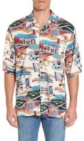 Reyn Spooner Men's Los Angeles Angels Of Anaheim Print Camp Shirt