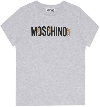 MOSCHINO BAMBINO Logo cotton T-shirt
