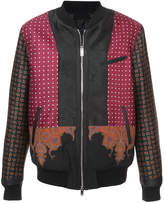 Alexander McQueen engineered paisley bomber jacket