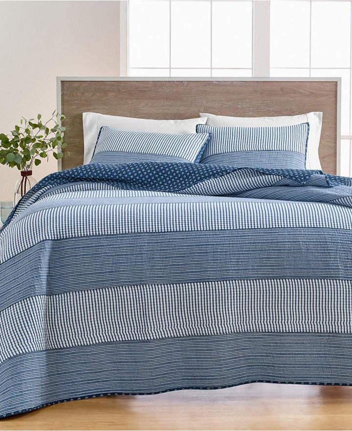 Martha Stewart Collection Nautical Stripe Twin Quilt