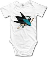 Enlove San Jose Sharks BABY Cartoon Short Sleeves Variety Baby Onesies Bodysuit For Babies