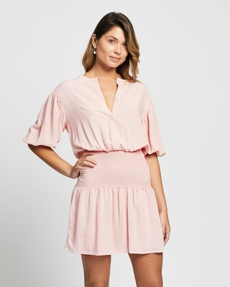Atmos & Here Shae Button Front Smock Dress