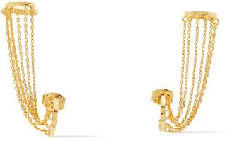 Noir 14-karat Gold-plated Ear Cuffs