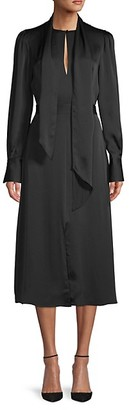 Equipment Long-Sleeve Midi Dress