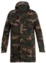 Valentino Camouflage-print Hooded Gabardine Parka