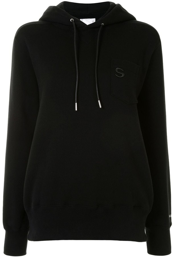 Sacai Logo Embroidered Pocket Hoodie
