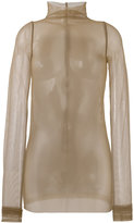 Rick Owens Lilies tulle long sleeve top