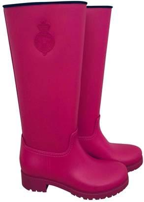 Ralph Lauren Pink Rubber Boots