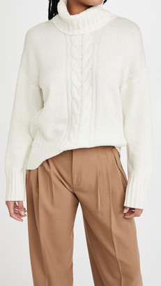 Splendid Cashmere Cable Sweater