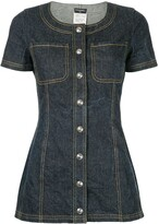 Shortsleeved Denim Mini Dress