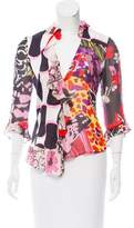 Christian Lacroix Asymmetrical Printed Blouse