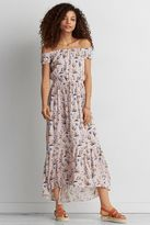 American Eagle Outfitters AE Off-The-Shoulder Printed Maxi Dress
