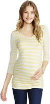 Motherhood Jessica Simpson Mixed Striped Maternity Top