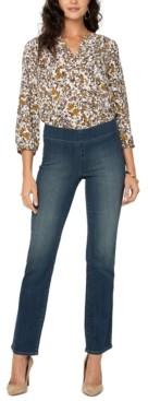 NYDJ Petite Pull-On Straight-Leg SureStrech Denim Jeans
