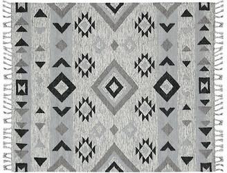 One Kings Lane Paulson Flat-Weave Rug - Silver - 2'x3'