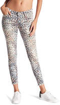 William Rast Animal Print Raw Hem Skinny Ankle Jeans