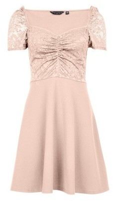 Dorothy Perkins Womens Blush Sweetheart Skater Dress