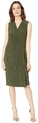 Lauren Ralph Lauren Faria Sleeveless Dress (Oliva) Women's Dress