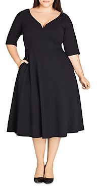 City Chic Plus Fit-and-Flare Dress