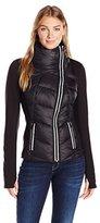 Blanc Noir Women's Puffer Stretch Fleece Jacket