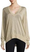 MICHAEL Michael Kors Plus Metallic V-Neck Sweater